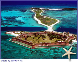 Dry Tortugas National Park - daily boat and seaplane trips plus fishing excursions overnight to Dry Tortugas